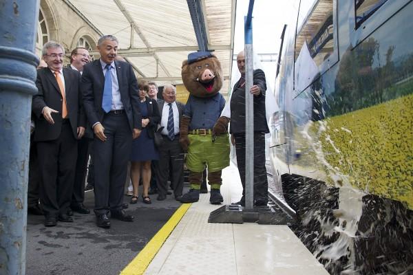 Inauguration du TER Marque Ardenne en gare de Sedan
